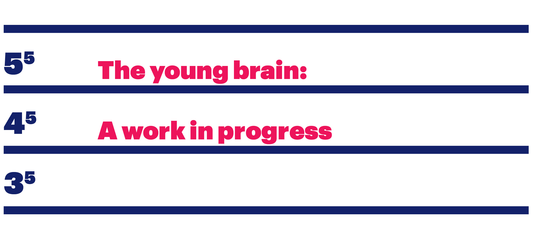 Section title: The young brain: A work in progress