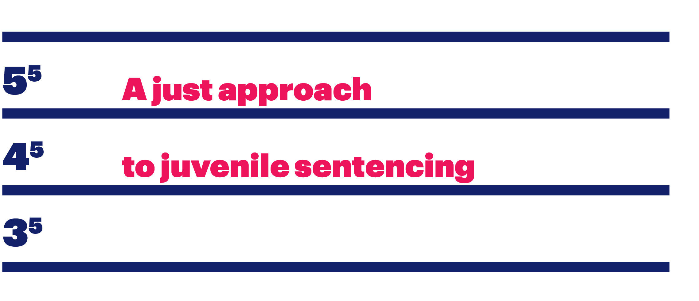 Section title: A just approach to juvenile sentencing