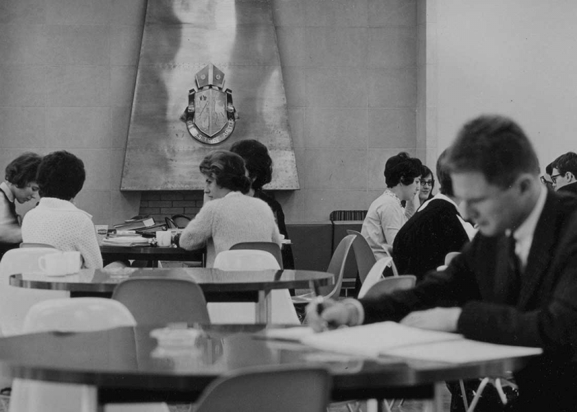 Before - image of students in the Buttery 1960s