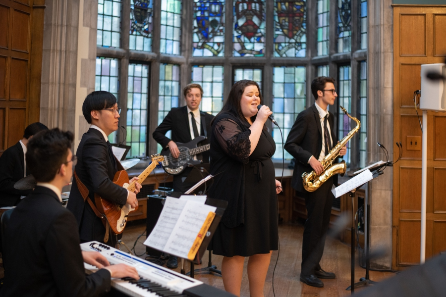 jazz band playing at the event