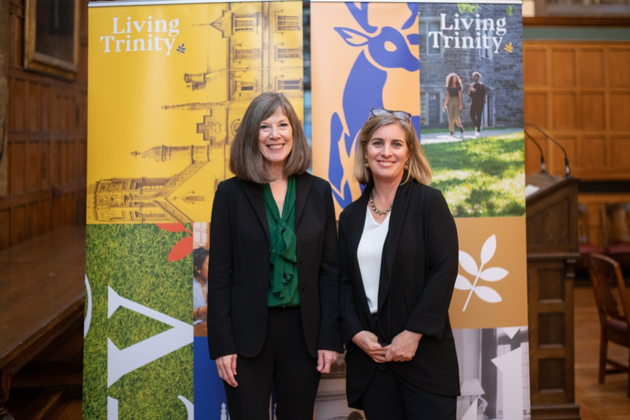 Provost Mayo Moran with Melanie Woodin, Dean, Faculty of Arts and Science, U of T