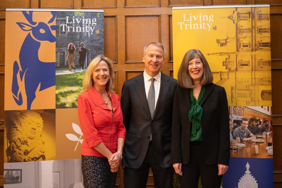 Joannah and Brian Lawson with Provost Mayo Moran