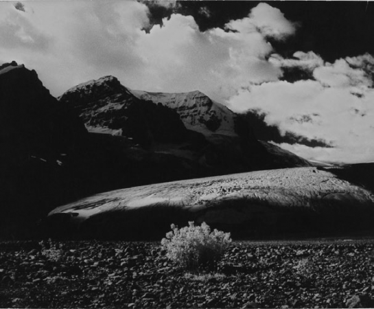 Columbia Ice Field, Alberta, 1965, landscape, black and white