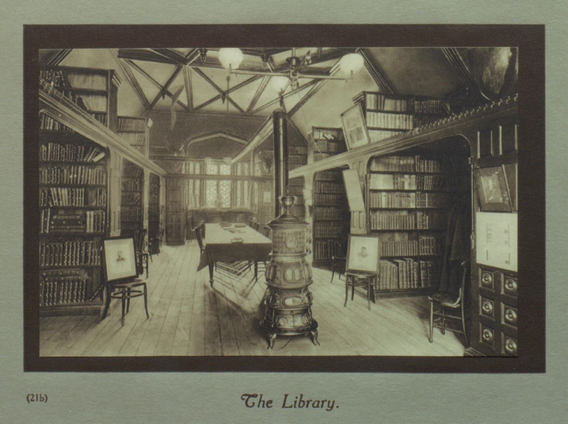 "The library at ""Old Trinity"" on Queen Street West"